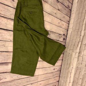 La Vita green linen size 14 Capri